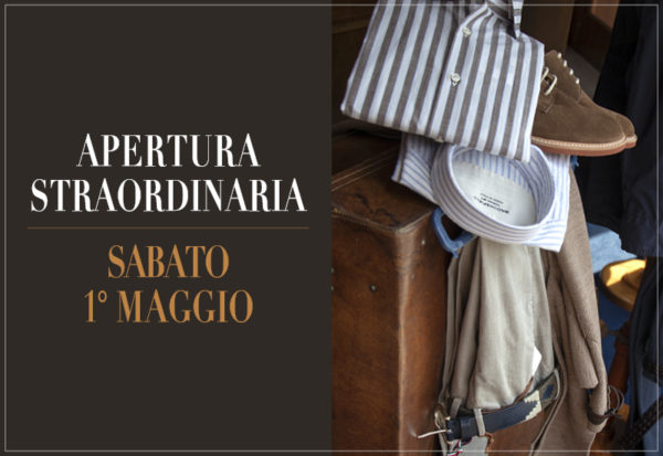 Apertura straordinaria sabato 1° maggio - Fabris Torino